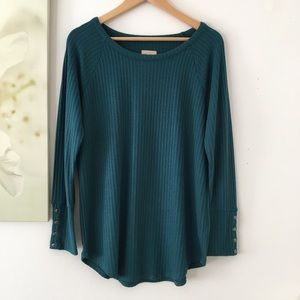 Chaser Top Thermal Waffle Knit XL